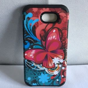 Accessories - J3 Prime Durable Hybrid Butterfly Case Cover